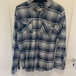 Oneill flannel plaid button down new with tags!